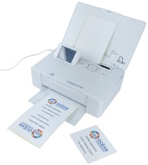 Full colour badge printer